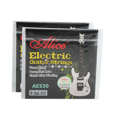 2PCS Alice Electric Guitar B Strings Single 2nd Coated Steel String Light .013''