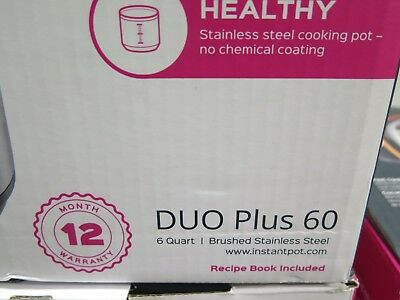 Instant Pot Duo Plus 60 9-in - 1 Multi-Use Programmable Pressure Cooker