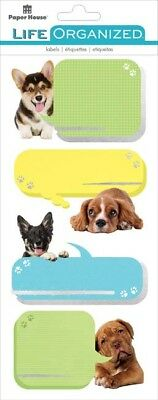 Playful Puppies - Paper House Life Organized Label Stickers