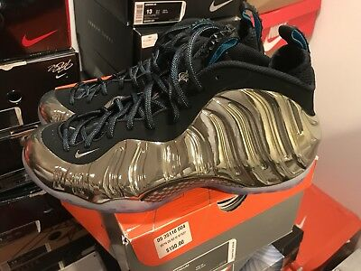 online store 46c41 47677 BNDS Nike Air Foamposite NYC All Star Metallic Silver Mirror Sz 12 Galaxy  Yeezy
