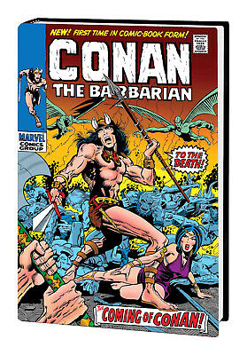 Marvel Comic CONAN THE BARBARIAN OMNIBUS HC VOL #1 DM Barry Smith Cover (2019)
