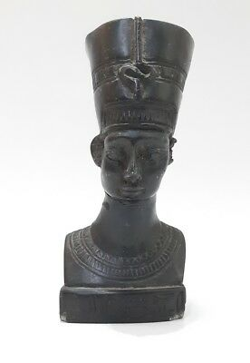 Rare Ancient Egyptian Art Carved Antique Bust Statue Of Queen Nefertiti Resin