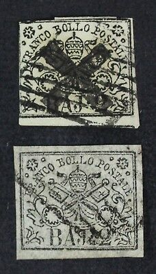 CKStamps: Italy Roman States Stamps Collection Scott#3 (2) Used