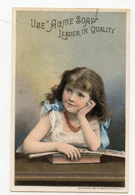 Lautz Acme soap dreaming girl with books 1881