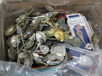 Huge Lot of Souvenir Collectible Spoons in Flat Rate Box