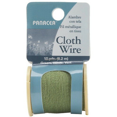 Panacea-Cloth Covered Spool Wire 32 Gauge 30'-Flower Arranging-Green