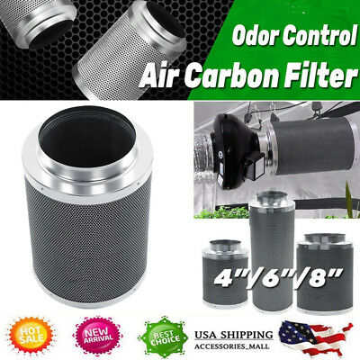 """4""""/6""""/8"""" Air Carbon Charcoal Filter for Odor Control Exhaust Inline Fan US STOCK"""
