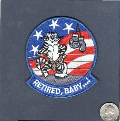 RETIRED BABY Grumman F-14 TOMCAT US Navy Fighter Squadron VF Mascot Patch
