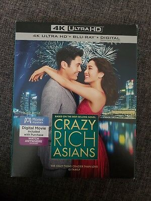 -NEW- Crazy Rich Asians 4K w/ Slip Cover (Blu Ray / Ultra HD,
