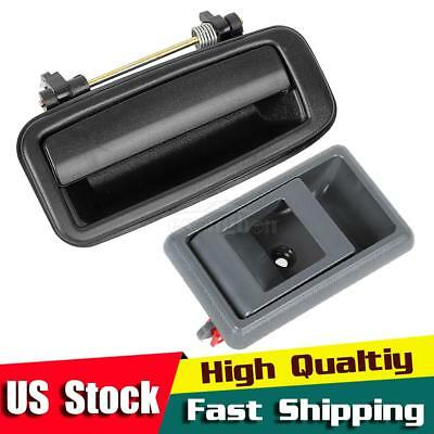 Pair Rear Right Pass RH Door Handle For 88-92 TOYOTA COROLLA Outside Inside
