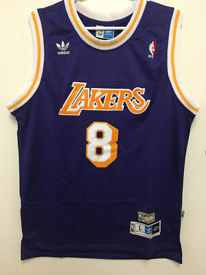 size 40 f9473 18280 KOBE BRYANT #8 Los Angeles Lakers Vintage Purple Throwback Stitched Jersey  Men's