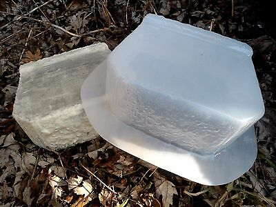 "set of 2 retaining wall brick concrete mold 100 mil poly plastic 8"" x 6"" x 3.25"""