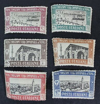 CKStamps: Italy Libia Stamps Collection Scott#B5-B10 Mint H OG