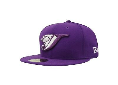 best sneakers 5bd48 be32c New Era 59Fifty Toronto Blue Jays MLB Basic Hat Men Purple White 5950 Fitted  Cap