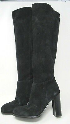 d939e197d2a5 NEW SAM EDELMAN Victoria pull on Over The Knee Tall Suede Black Boot ...