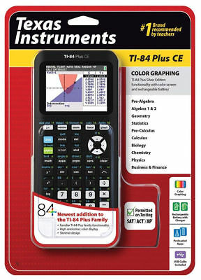 Texas Instruments Ti-84 plus CE Graphing Calculator  Black SEALED NEW