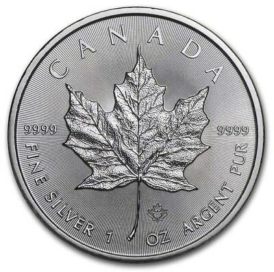 2019 Canada 1 oz. Silver Maple Leaf $5 Coin GEM BU