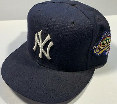 VTG NEW YORK Yankees 1996 World Series Fitted hat 7 3 8 NEW Era Wool ... a21b48092b20