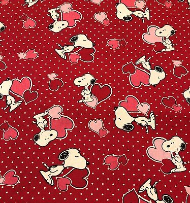 BOUFFANT STYLE SURGICAL Scrub Hat, SNOOPY HEARTS VALENTINES