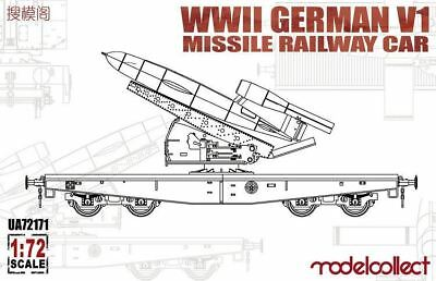 MODELCOLLECT UA72171 WWII German V1 Missile Railway Car in 1:72