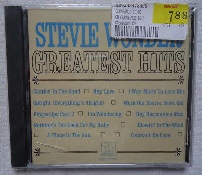 Greatest Hits by Stevie Wonder (CD, Aug-1998, Motown) BRAND NEW FREE SHIPPING