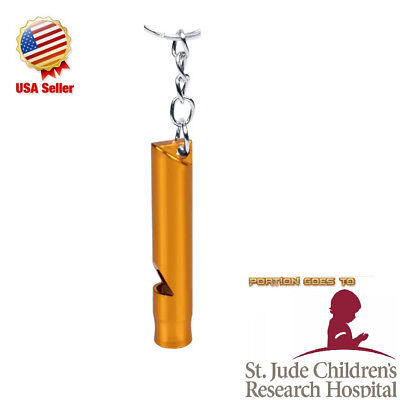 1 Rape Emergency Alarm Keychain Whistles Survival Yellow