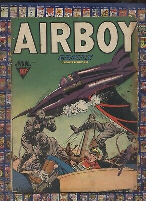 Airboy V4 #12 1948 Golden Age comic ,Heap Horror Story