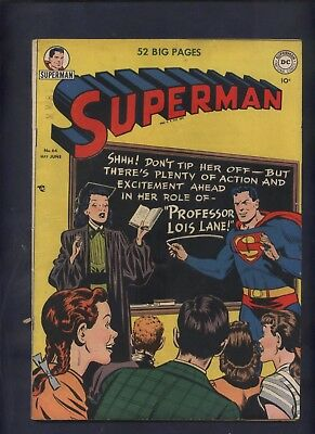 Superman #64 DC golden age comic Professor Lois Lane  Giant Insects!  *