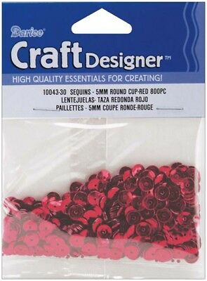Red - Cupped Sequins 5mm 800/Pkg