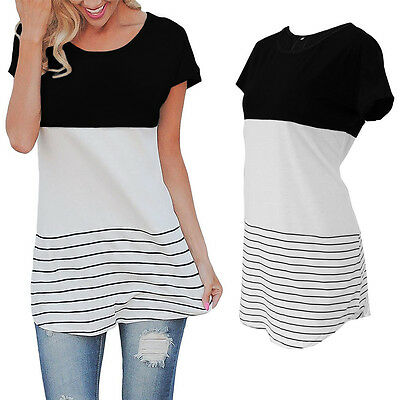 Lace Up Tie Corset Contrast Color Block Relaxed Fit Short Sleeve Tunic Tee Top