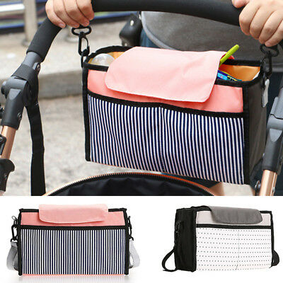 Baby Stroller Pram Pushchair Organizer Bag Bottle Diaper Storage Bag Holder