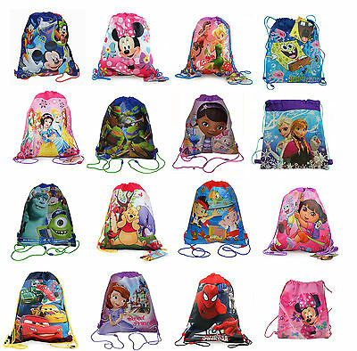 Disney Licensed Children Sport Sling Backpack Goody Treat Candy Bag Party Favors