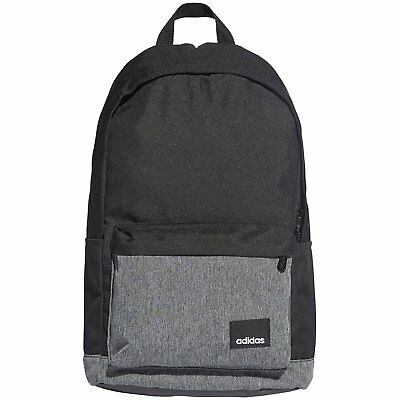 ADIDAS LINEAR CLASSIC Backpack Rucksack School Sports Bag Black ... ac76b1e20920e