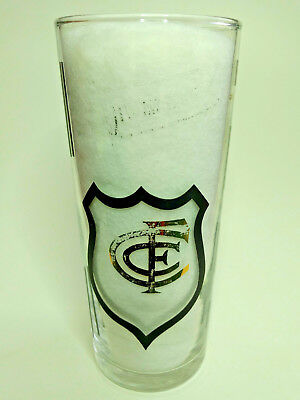 1960's Eta VFL FOOTY CLUB PREMIERSHIP GLASS CARLTON, BLUES (Type C)