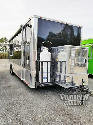 New 8.5X28 Enclosed Cargo Food Vending Trailer Mobile Kitchen & 1/2 Bathroom