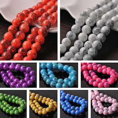 NEW 20~100pcs 10mm Round Charms Loose Spacer Glass Bead Jewelry Making Bulk