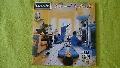 CD COLLECTOR OASIS definitely maybe 2 titres tirage limité 1994 SAMP 2347