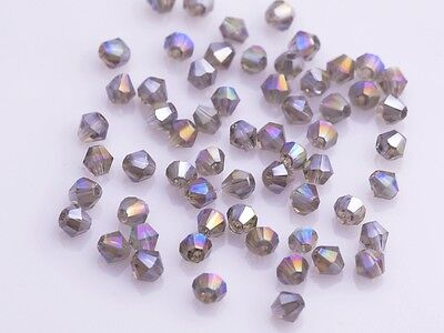 200pcs 4mm Bicone Faceted Crystal Glass Loose Craft Beads Light BrownAB