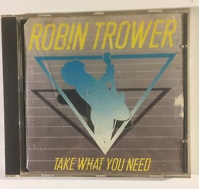 Robin Trower Take What You Need rare 1st Issue CD Moisture-Damaged Book/Inlay