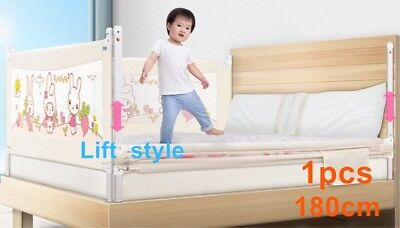 180cm Kids Toddler Bed Guard Safety Folding Lifting Baby Bed Protection Rail NEW