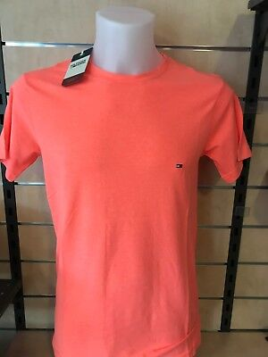 Tommy Hilfiger Herren Basic T Shirt Gr.  S FB  Orange  UVP 29,99 €