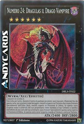 NUMERO 24: DRAGULAS IL DRAGO VAMPYRE • Segreta • DRL3 IT022 • Yugioh! ANDYCARDS