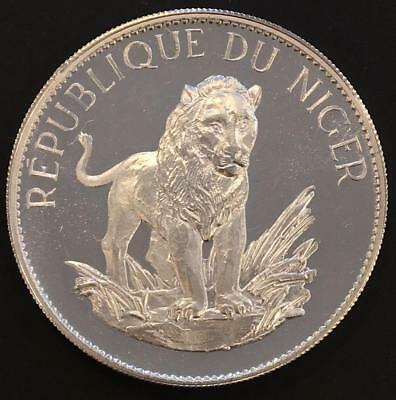 10 Francs Proof Niger 1968 'Lion' Silver coin