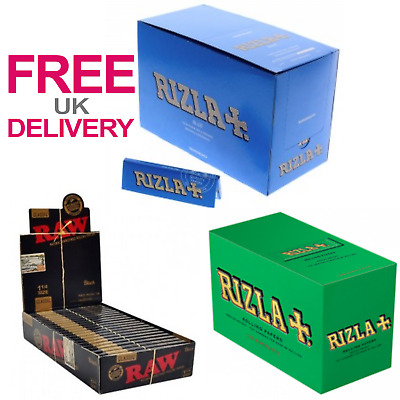 Black Raw Rizzla Blue Green Papers Cigarette Smoking Rolling Paper Medium Thin