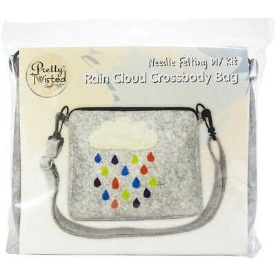 Pretty Twisted Needle Felting Diy Kit-rain Cloud Crossbody Bag