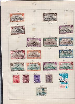 egypt issues of 1933 stamps page ref 18119