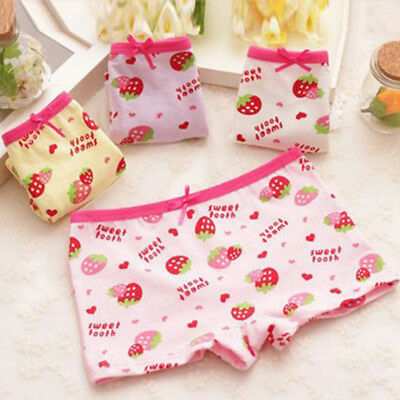 4Pcs Toddler Kids Baby Girls Briefs Soft Cotton Panties Knickers 2-8 Years