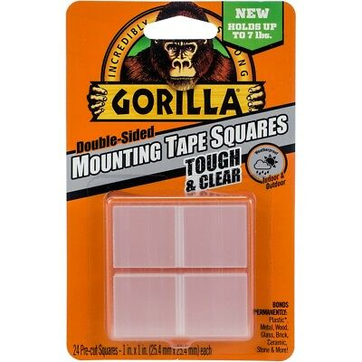 "Gorilla Double-sided Mounting Tape Squares 1""x1"" 24/pkg-clear"