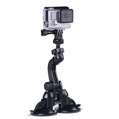 Smatree Double Suction Cup Mount for GoPro Hero 7/6/5/4/3+/3/2/1/Hero...