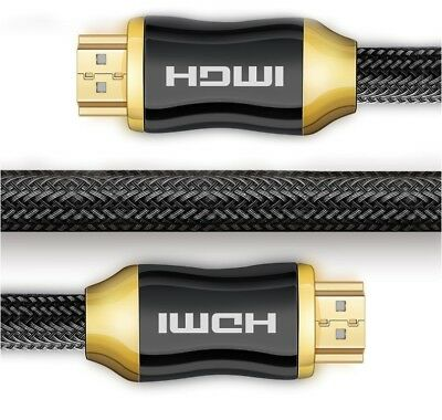 Premium HDMI Cable V2.0 3D 4K Ultra HD Audio Gold Plated High Speed Ethernet-10M